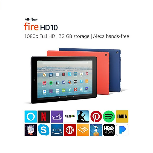Fire HD 10 Tablet with Alexa 1080p Full HD Display
