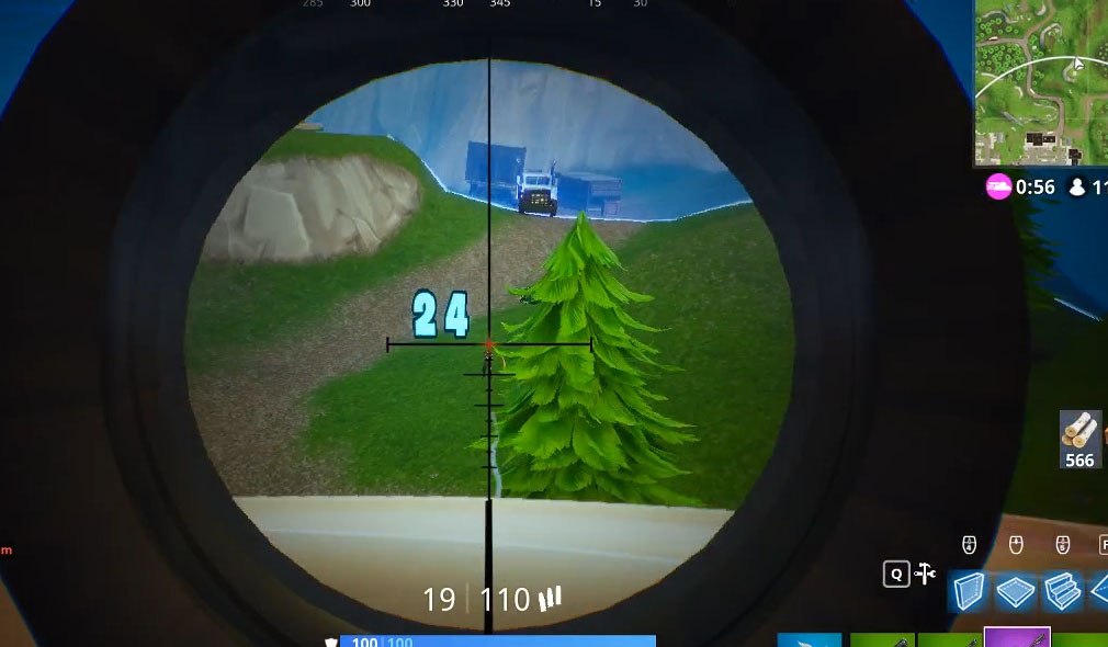 Fortnite Damage Counter Scoped Rifle